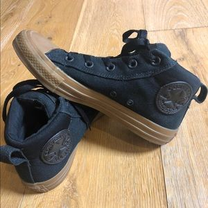 Converse All-Star black mid top gum sole 5